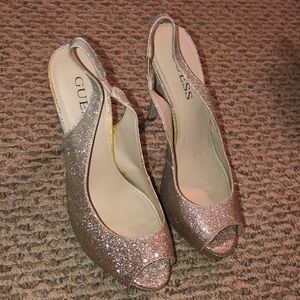 Slightly Used Sparkly Guess High Heels